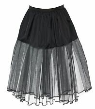"""29"""" Long Black Witch Under Skirt Petticoat  Fancy Dress UK"""