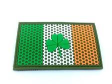 Ireland Irish Shamrock Mesh Crest Flag Airsoft Paintball PVC Morale Team Patch
