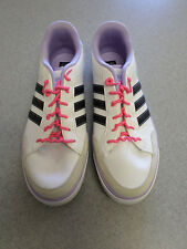 "Adidas ""NEO"" White, Black and Light Purple Leather,Athletic Shoes Women's  8.5"