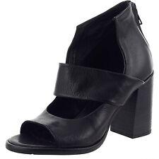 MJUS sandalo con tacco in pelle fondo in gomma nero fodera in pelle mod 7805