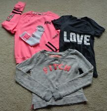 VICTORIA SECRET VS PINK Lot Sz XS Sweatshirt Tee Socks Cropped Abercrombie Fitch