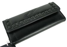 Alpinestars Racing Leather 4W Sofia Black Check Book Card Holder Womens Wallet