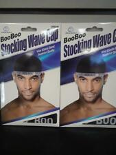 Dream World  Boo Boo STOCKING WAVE CAP, Wire Eastic Band ( #045 Black) set of 2