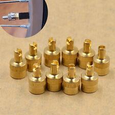 10pcs Copper Schrader Valve Tool Remover Valve Stem Caps Plug Repair Tools Set