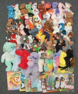 ~~79 TY BEANIE BABIES, CLUB KIT, GUDIES, MAGAZINES, & BUDDIES - WHOLESALE BULK