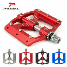PROMEND Aluminum Alloy Bicycle Pedal MTB Road Bike Flat Pedals 3 Sealed Bearings