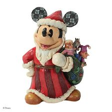 Disney Traditions Toys To The World Christmas Santa Mickey Figurine 18cm 4027922