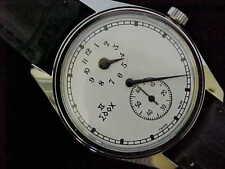 Vintage Edox Doctors Watch Regulator Stainless Steel Screw Back 35mm Case