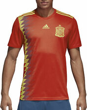 Adults Large adidas Spain Home Shirt 2018 Plain Mx12