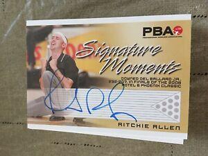 2007 PBA Bowling Signature Moments Autograph Ritchie Allen