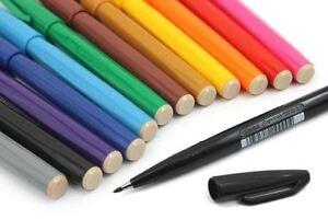 Pentel Sign Pen S520 Fibre Tip Marker Colour Fineliner - 11 Colours Available