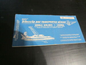 VERY rare  DTA airlines  Angola Company   vintage  1971  before TAAG