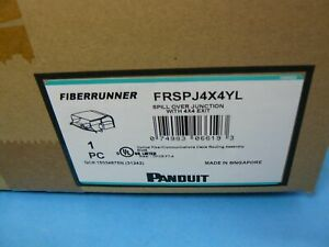 Panduit FRSPJ4X4YL Spill-Over Junction Fitting W/ 4x4 Exit Yellow New