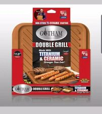 Gotham Steel Ceramic and Titanium Nonstick Double Sided Grill  As Seen On TV-NEW