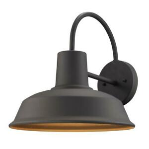 1Light Weathered Bronze Outdoor Wall Mount Barn Light Sconce by Bel Air Lighting