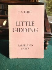 Little Gidding by T.S. Eliot; stapled pamphlet; true first edition, 1942
