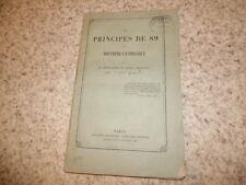 1861.Principes de 89 et doctrine catholique.Godard