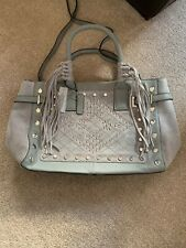 River Island Grey Leather And Suede Studded Bag - BNWT