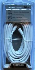 "CABLE TV SATELITE 10m. CONECTORES ""F"" THOMSON KBT 483"
