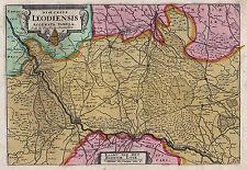 LÜTTICH LIÉGE Dioezese schöne kleine Landkarte 1735  Original!