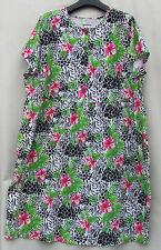 Maggie Barnes Knit Cotton Animal Print Tropical Empire Waist 22/24W 2X Dress EUC