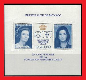 ZAYIX - 1989 Monaco 2607 MNH souvenir sheet - Princess Grace Foundation anniv.