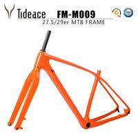 Orange Carbon Fiber T800 Mountain Bike Frame 29er With 12*142mm MTB Front Fork