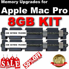 8GB (2X 4GB) DDR2 667 MHZ FB-DIMM Apple Mac Pro 2006 DUAL CORE memoria vendita 50% del Regno Unito