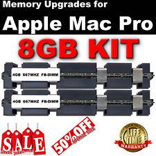 8GB (2X 4GB) DDR2 667 MHZ FB-DIMM Apple Mac Pro 2006 DUAL CORE memoria vendita 50% del Regno Unito