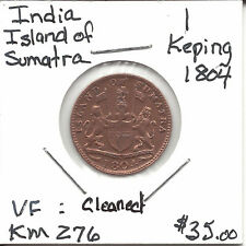 India Island of Sumatra KM 276 1804 1 Keping VF