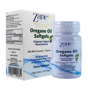Oregano Oil Softgels.Concentrate 7:1 Provides 64 mg Carvacrol per Serving.60pcs