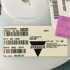 LOT OF (500) NEW VISHAY SPRAGUE 293D476X0016D2T 47 uF 16V 10% D CASE TANTALUM
