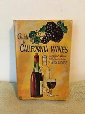 Guide to California Wines by John Melville (1960) HCDJ