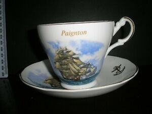 PAIGNTON Bone China Cup and Saucer by Argyle
