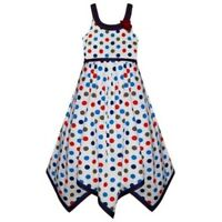 Girls Polkadot Summer Dress New Kids Cotton Sleeveless Dresses Ages 2-10 Years