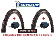 "2 Copertoni MICHELIN 26x2,00 Country Trail +2 Camere per Bici 26"" MTB Mountain B"