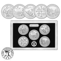 2019-S Silver Quarter ATB Proof Set -1st .999 silver quarters