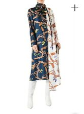 Tibi Renzo Scarf Print Bicolor Asymmetric Dress size 00 MSRP $1,195 SOLD OUT