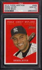 2010 Topps Heritage White Back MVP #486 Derek Jeter   PSA 10   817