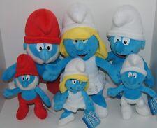 3 X LARGER THE SMURFS - SMURFETTE / PAPA SMURF/ SMURF 39cm Plush Toys BNWT