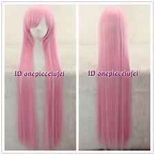 Angel Beats! Yui 100cm long Pink straight Cosplay Wig+ free wig cap