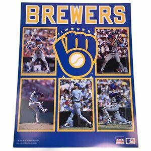 "Vintage Milwaukee Brewers MLB 1988 Starline Poster 16"" x 20"""