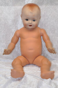 Babypuppe - Sonneberg ca. 1948 -  Masse Puppe - ca. 63 cm  - Nr. 1