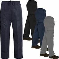 New Mens Elasticated Cargo Combat Work Lightweight Trousers Pants Bottoms S-XXL