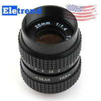 "25mm F1.4 1/2"" Television TV CCTV C Mount Lens for Sony NEX Fujifilm Micro 4/3"