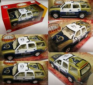 St. Louis Rams 2002 Cadillac Escalade Metal Die cast 1:24 Scale