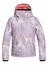 Roxy Jetty Snow Jacket - Youth Girls - Minimal Grey Mosaic (SKG1) - 10/Medium