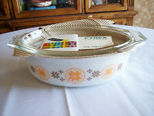 Vintage Pyrex 2 1/2 Qt. Lidded Casserole Town & Country Unused No Box Free Ship!