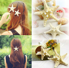 Womens Girls lady Fashion Elegant Pretty Starfish Sea Star Hairpin Hair Clip one