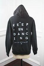 Ellie Goulding Keep On Dancing Hoodie Zippered Hooded Sweatshirt Black Size S